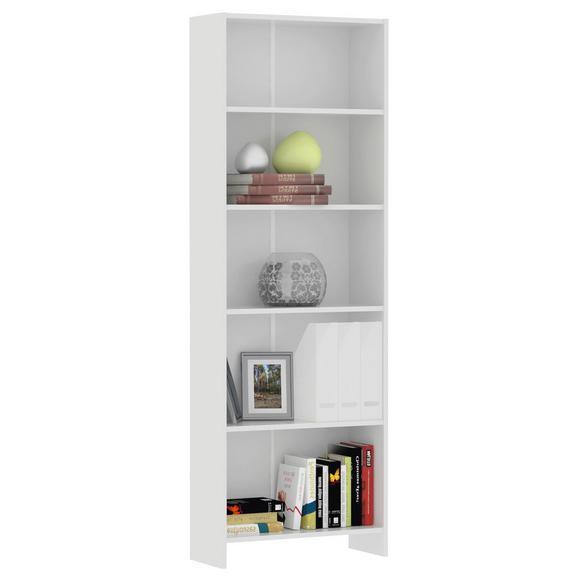 """Etajeră """"bart"""" - alb, Modern, lemn (60/175/24cm)"""