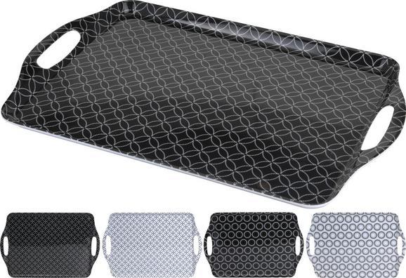 Tablett Shiva verschiedene Designs - Schwarz/Weiß, LIFESTYLE, Kunststoff (45/30cm) - Mömax modern living