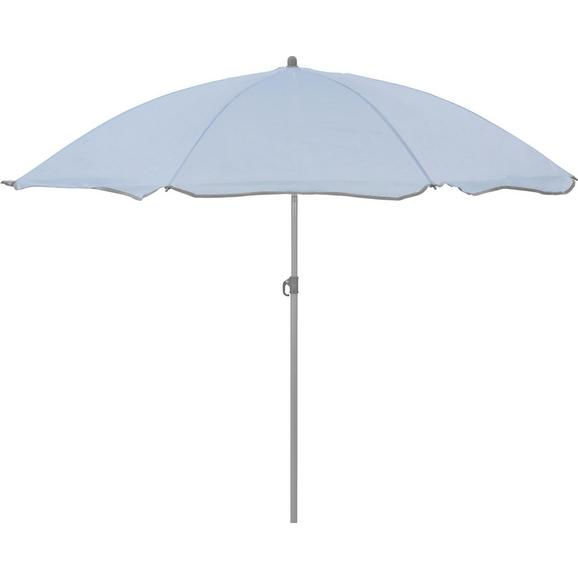 Sonnenschirm Lecci in Hellblau - Grau/Hellblau, Kunststoff/Textil (180/190cm) - Mömax modern living