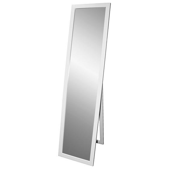 Oglindă Cu Picior Meggy - alb, Modern, sticlă/compozit lemnos (40/160/3,8cm)