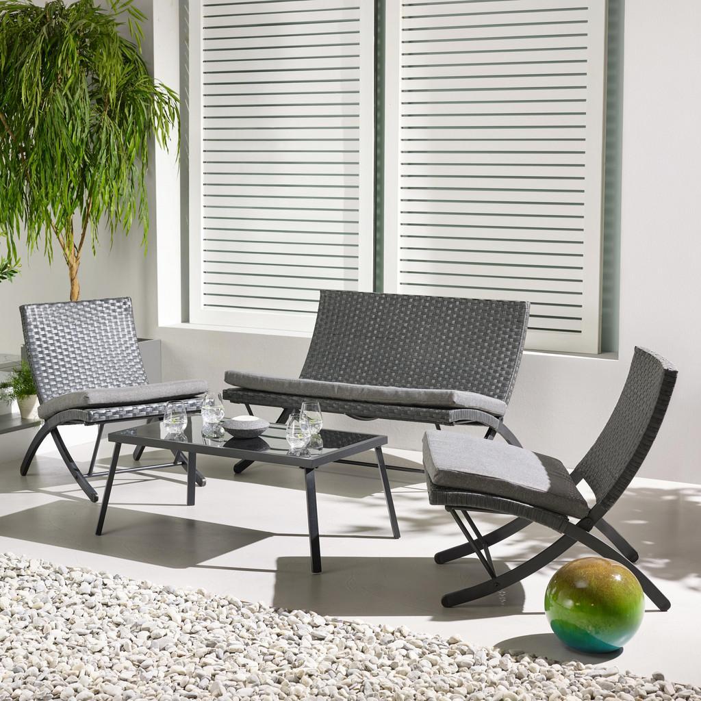 Gartengarnitur Luan inkl. Tisch