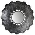 Wandspiegel Schwarz/Silberfarben 61x61cm - Silberfarben/Schwarz, LIFESTYLE, Glas/Metall (61/61/8cm) - Modern Living