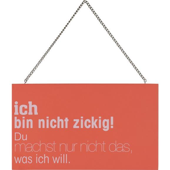 Dekoschild REIMI Rosa/Weiß - Rosa/Weiß, Holzwerkstoff/Metall (23,2/13,5/0,5cm) - Mömax modern living