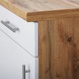 Kuhinjska Spodnja Omarica Stella Us50 - bela/hrast, kovina/leseni material (50/86/57cm)