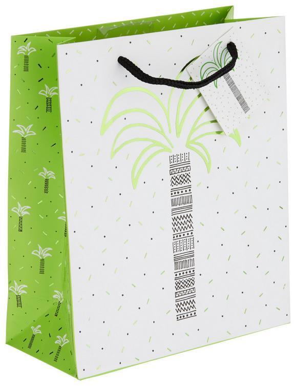 Geschenktasche Jana Bunt - Goldfarben/Schwarz, Papier (18/21/8cm)