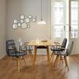 Stuhl Jan - Dunkelgrau/Buchefarben, MODERN, Holz/Textil (65/59/86cm) - Modern Living