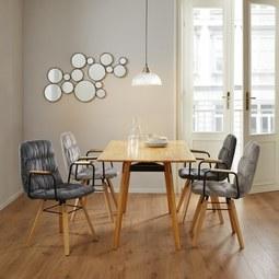 Tisch Piet Echtholz ca. 135x80 cm - Buchefarben, MODERN, Holz (135/75/80cm) - Modern Living