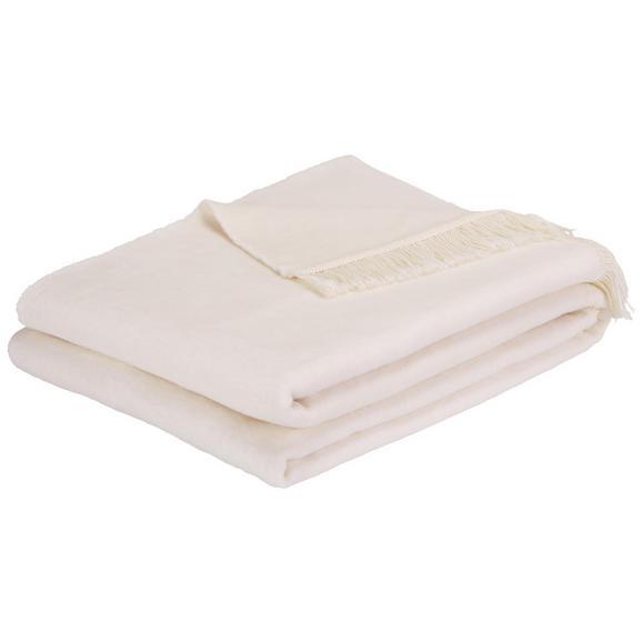 Wohndecke El Sol in Weiß ca. 150x200cm - Weiß, Textil (150/200cm) - Mömax modern living