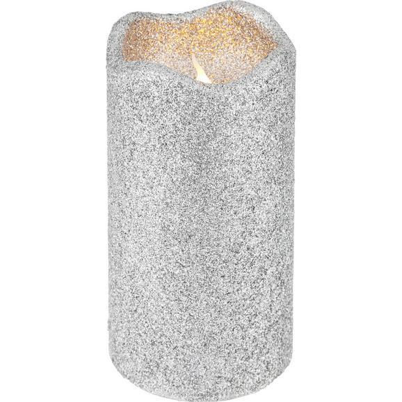 Kerze mit LED Marie Silber - Silberfarben (7/13cm)