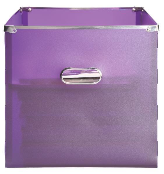 Škatla Za Shranjevanje Poppi - vijolična, Moderno, kovina/umetna masa (34,5/33/34cm) - MÖMAX modern living