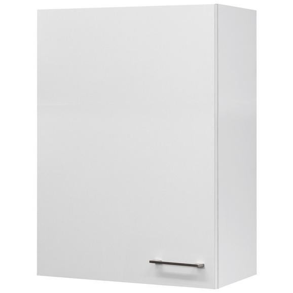 Küchenoberschrank Weiß - Edelstahlfarben/Weiß, MODERN, Holzwerkstoff/Metall (60/89/32cm) - FlexWell.ai