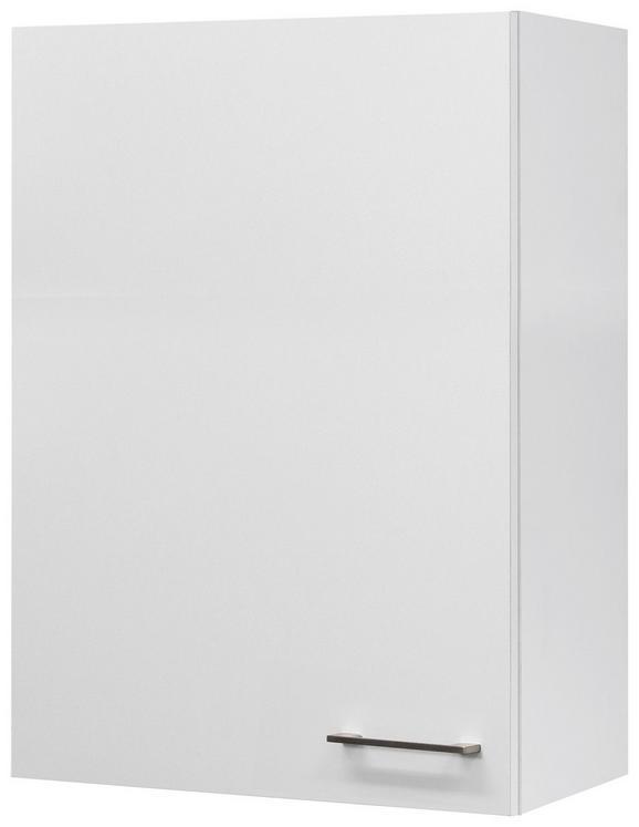 Küchenoberschrank Weiß - Edelstahlfarben/Weiß, MODERN, Holzwerkstoff/Metall (60/89/32cm)