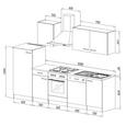Küchenblock ECONOMY 280 - Eichefarben/Weiß, Basics, Holzwerkstoff (280/200/60cm) - Livetastic
