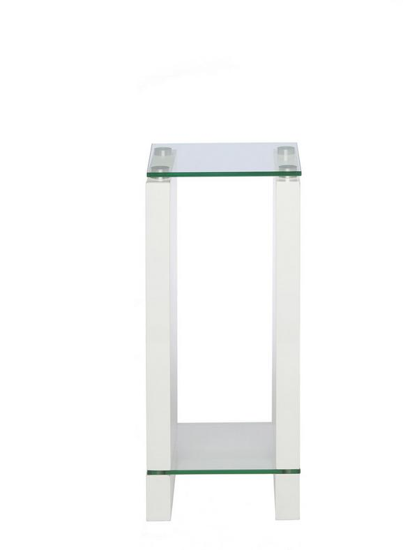 Blumensäule in Weiß - Klar/Weiß, Glas/Holzwerkstoff (25/60/25cm) - Mömax modern living