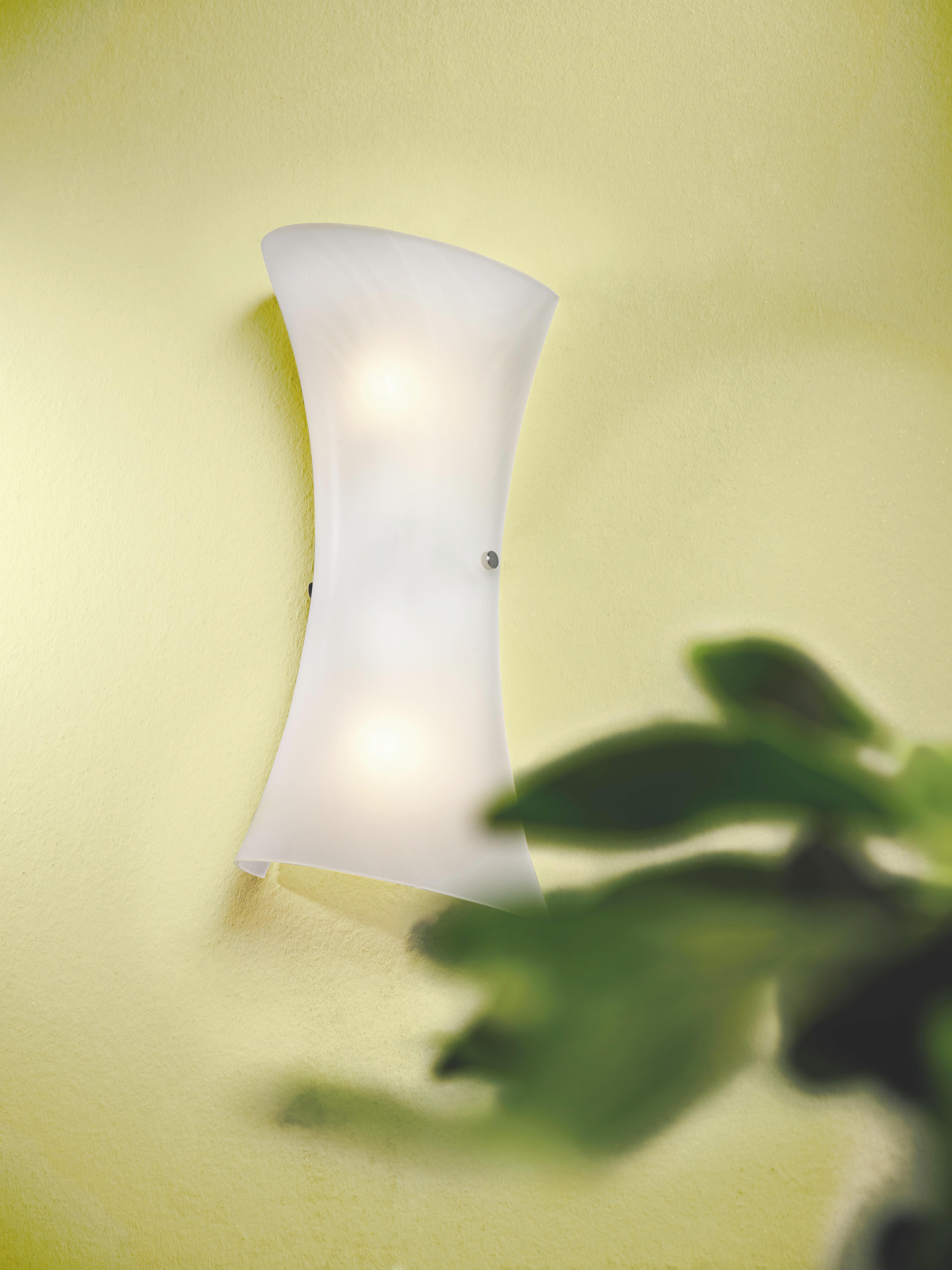 Stenska Svetilka Simona - bela/barve aluminija, Konvencionalno, kovina/steklo (20/40cm)