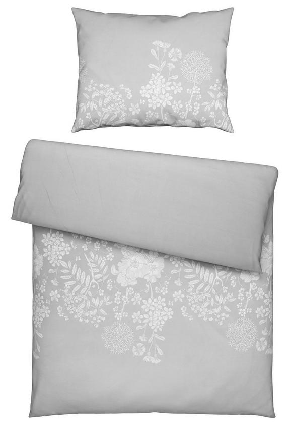 Bettwäsche Andrea Hellgrau 140x200cm - Hellgrau, ROMANTIK / LANDHAUS, Textil (140/200cm) - Mömax modern living