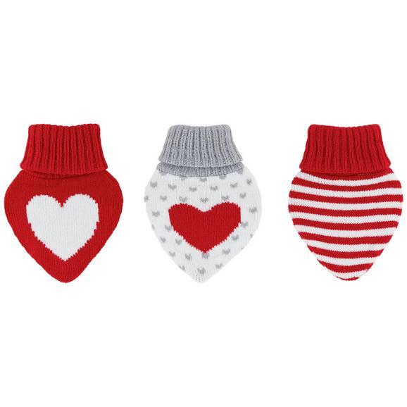 Handwärmer Heart verschiedenen Designs - Rot/Weiß, ROMANTIK / LANDHAUS, Textil (10,6/1,6/11,2cm) - Mömax modern living