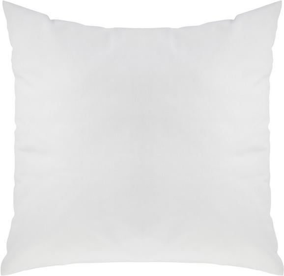 Zierkissen Zippmex in Weiß, ca. 50x50cm - Weiß, Textil (50/50cm) - BASED