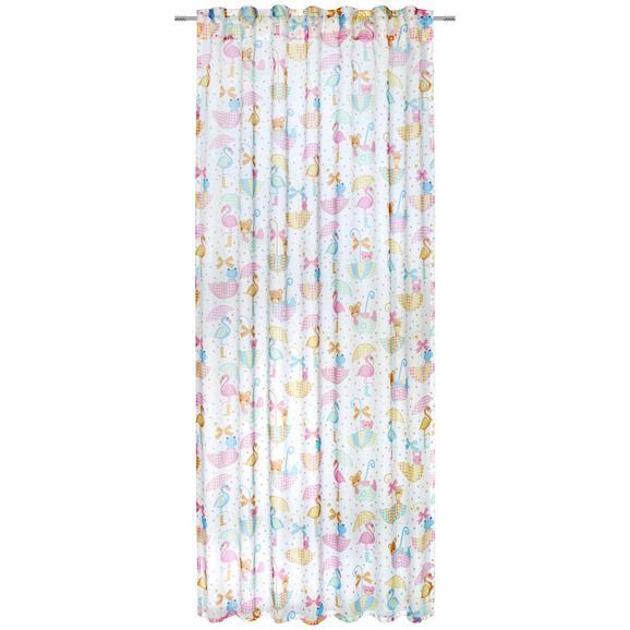 Zavesa Z Zankami Sweety -ext- - večbarvno, tekstil (135/245cm) - Modern Living