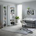 Drehstuhl in Weiß - Chromfarben/Schwarz, MODERN, Kunststoff/Textil (61cm) - Mömax modern living