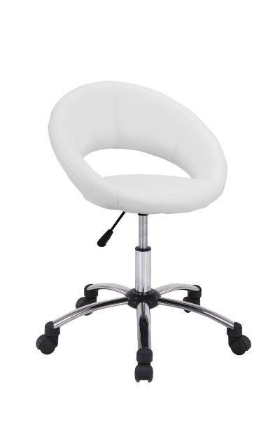 Drehstuhl Weiß/chrom   Chromfarben/Schwarz, MODERN, Kunststoff/Textil (61