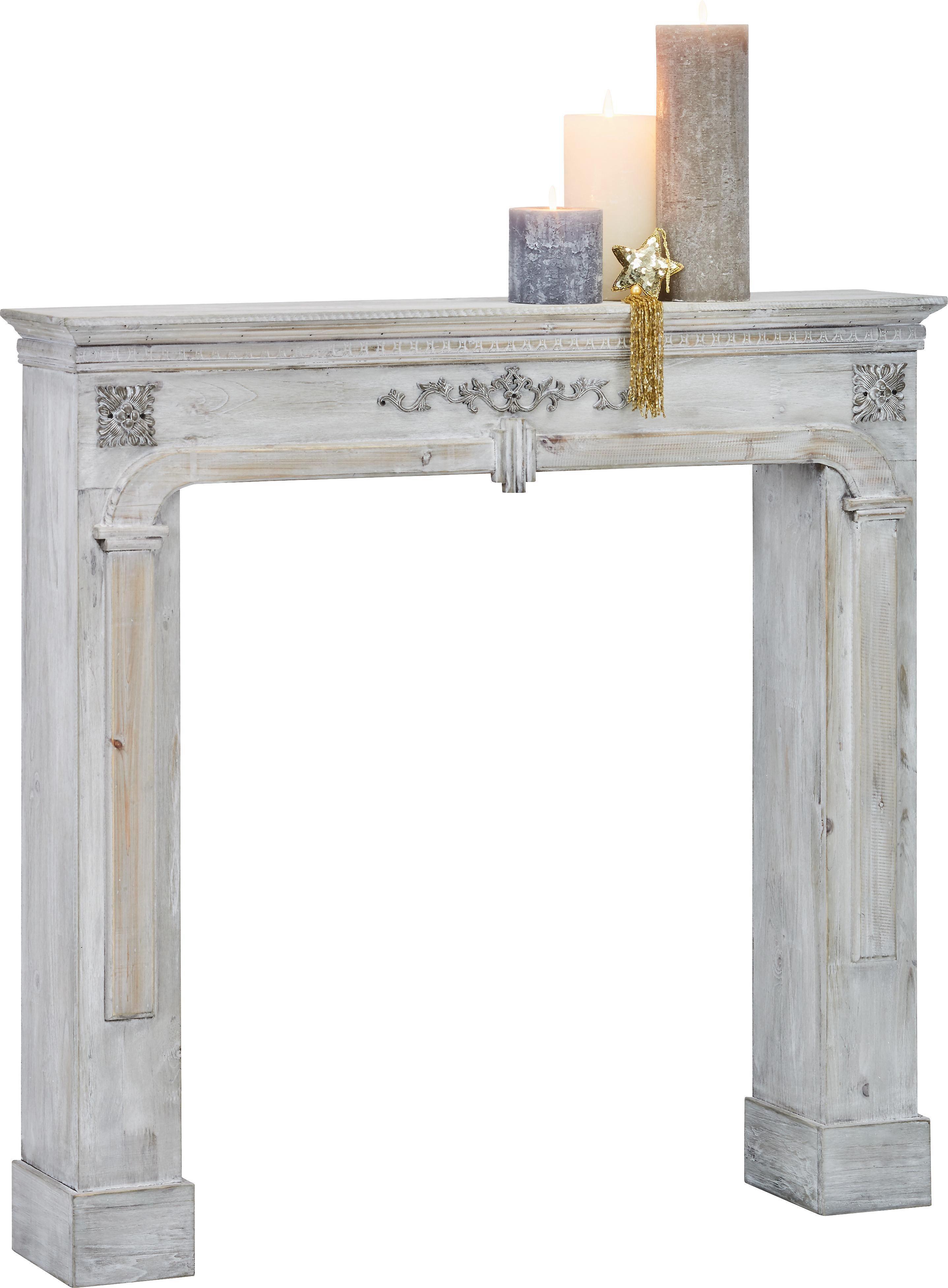 Kaminumrandung In Vintage Weiß - Weiß, LIFESTYLE, Holz/Holzwerkstoff (104/99,35/17cm) - MÖMAX modern living