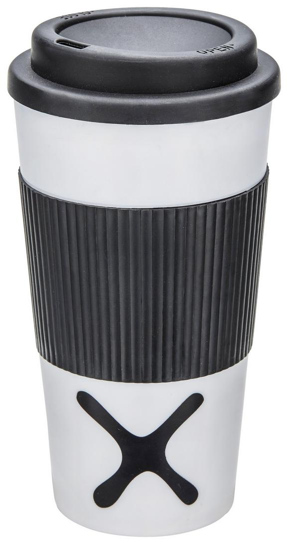 Isolierbecher Mömax 4 You Versch. Farben - Pink/Schwarz, Kunststoff (9/17,5cm) - Mömax modern living