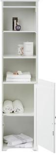 Regal Bianca - Weiß, MODERN, Holz/Metall (40/160/38cm) - Mömax modern living