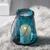 Windlicht Dara Ø/H ca. 18/24 cm - Blau/Schwarz, MODERN, Glas/Metall (18/24cm) - Bessagi Home