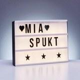 Led-svetlobna Škatla Larissa - črna/bela, Trendi, umetna masa (30/22/4,2cm) - Mömax modern living