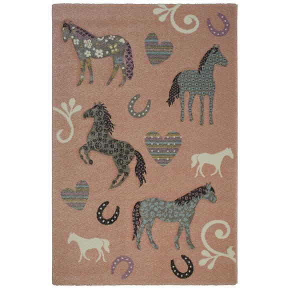 Kinderteppich Horse Love ca. 100x150cm - Rosa, Basics, Textil (100/150cm) - Mömax modern living