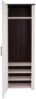 Garderobna Omara Provence - bron/wenge, Moderno, kovina/leseni material (71/200/42cm) - Zandiara