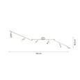 Reflector Cu Led Fritz - Konventionell, metal (18,5/145cm) - Modern Living