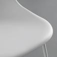 Stuhl Ella - Weiß, MODERN, Kunststoff/Metall (45/83,5/52,5cm) - Bessagi Home
