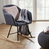 Schaukelstuhl in Grau 'Cameron' - Grau, MODERN, Holz/Textil (58/80/69cm) - Bessagi Home