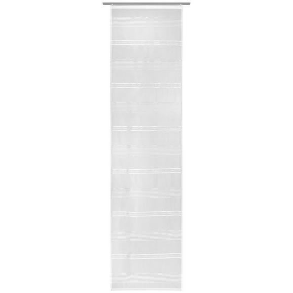 Flächenvorhang Louis Weiß 60x245cm - Weiß, KONVENTIONELL, Textil (60/245cm) - Mömax modern living
