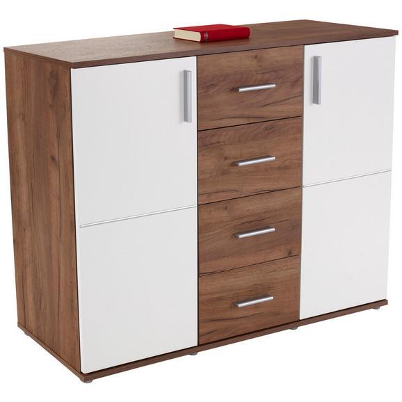 Komoda Ina 03 - bela/hrast, Moderno, leseni material (132,2/95,1/38,3cm) - Mömax modern living