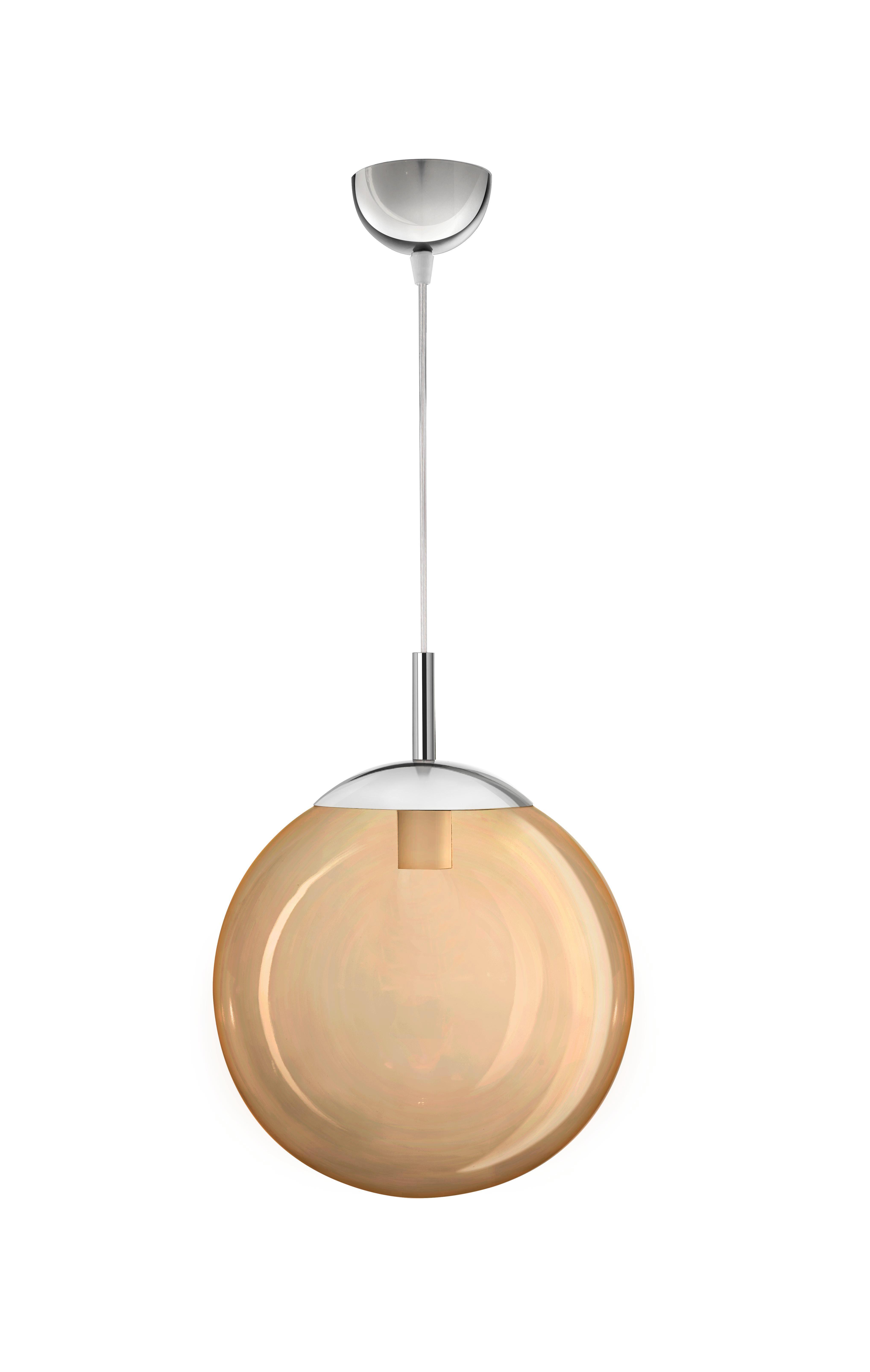 Függőlámpa Enni - borostyánszínű, konvencionális, műanyag/üveg (30/30cm) - MÖMAX modern living