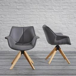 Armlehnstuhl Hella - Grau, MODERN, Holz/Kunststoff (68,5/77,5/47cm) - Modern Living
