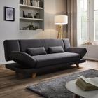 XL Sofa Faith mit Schlaffunktion inkl. Kissen - Dunkelgrau, MODERN, Holz/Textil (200/73/83cm) - Modern Living