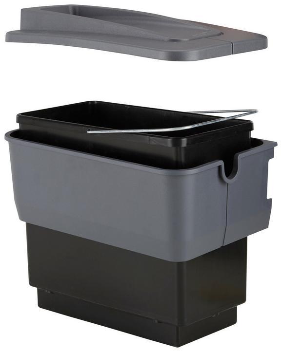 Einbauabfallsammler 512880 - Grau, Kunststoff (22/36,5/36cm)