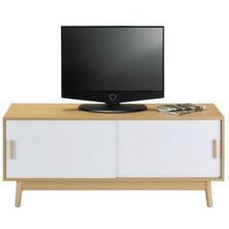 tv mobel aliona eschefarben weiss modern holz 120 50