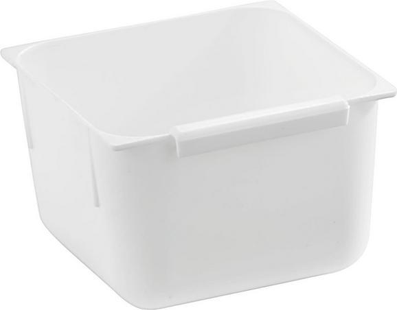 Tárolódoboz Műanyag - Fehér, Műanyag (7,5/7,5/5cm)
