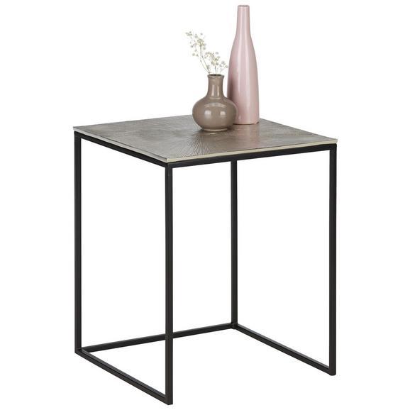 Beistelltisch aus Metall ca. 41,5x52x41,5cm - Schwarz/Nickelfarben, MODERN, Metall (41,5/52/41,5cm) - Premium Living