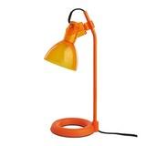 TISCHLEUCHTE max. 9 Watt 'Aston' - Orange, MODERN, Kunststoff/Metall (13,5/19/33cm) - Bessagi Home