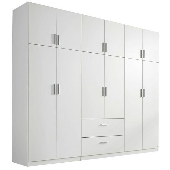 Kombischrank in Weiß - Alufarben, KONVENTIONELL, Holzwerkstoff/Kunststoff (271/229/54cm) - Modern Living