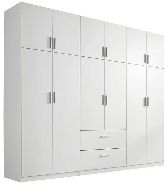 Kombischrank Weiß - Alufarben, KONVENTIONELL, Holzwerkstoff/Kunststoff (271/229/54cm) - Modern Living