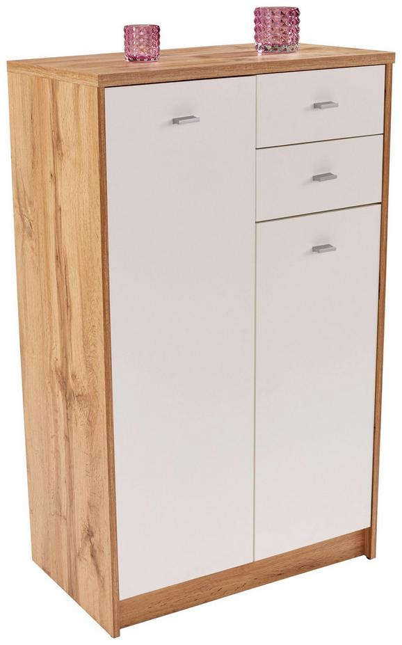 Komoda 4-you New Yuk08 - črna/bela, Moderno, umetna masa/leseni material (74/111,4/34,6cm)