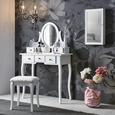 Kozmetična Miza Sara - črna/bela, kovina/steklo (81/128/40,5cm) - Mömax modern living