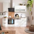 Bucătărie Standard Luisa - alb, Romantik / Landhaus, compozit lemnos (220cm)